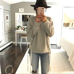 TopShop gray lace side sweatshirt US 8 or medium